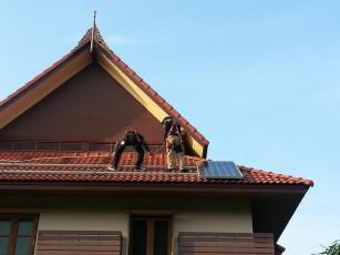 ติดตั้งโซลาร์รูฟบ้าน เรือนไทย ตลิ่งชัน 1