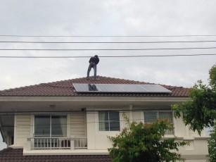 ติดตั้ง solar roof บ้าน คุณรัชบูล 2