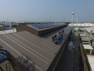 ติดตั้งโซลาร์รูฟโรงงาน STEC 5